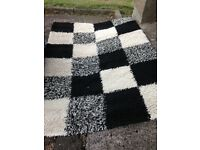 Rug very large size black and white £30