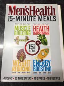 Men's health books set muscle building etc