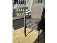 6 sturdy garden chairs