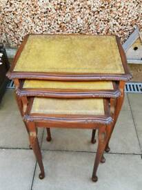 Vintage Reproduction mahogany nest of tables