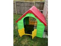 Playhouse foldable.... and little seesaw