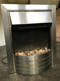 Silver and Gold Modern Electric Dimplex Fire