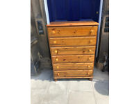 Ducal Pine Chest of Drawers - In good Condition - Free Local Delivery