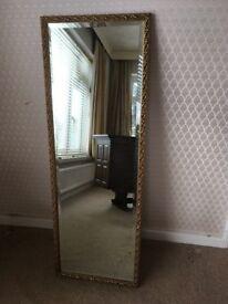 Tall Framed mirror