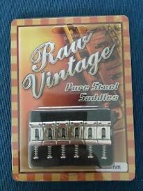 Raw Vintage Pure Steel Bridge Saddles For Fender Stratocaster - best on the market