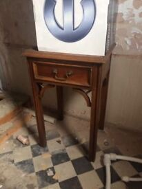 Wood Bedside table/cabinet - great condition