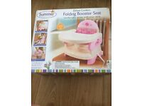 Folding booster seat high chair great for travel