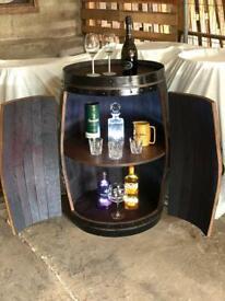 Oak Barrel Cabinet