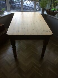 Solid Pine dining table