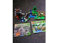 2 × Minecraft LEGO sets - The Farm and The Cave
