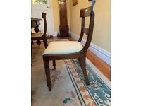 Antique William IV solid wood dining room chairs