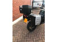 Triump Tiger 800 Luggage and Mounts (Full set, panniers and top box)