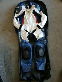 BMW Race Suit Leathers Double R Motorrad Size 54 - Great condition.