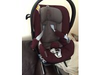Mamas And Papas Cybex Aton baby Car Seat and Isofix base