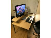 Office/ study desk with monitor shelf and pedestal for sale/ office chair
