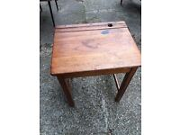 Old child's school desk with folding top - in nice condition