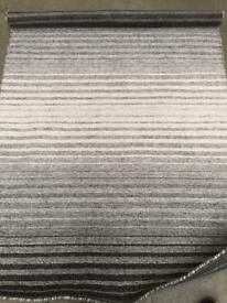 Striped Grey Rug