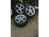 Bmw 18 inch alloys 255/45/18 rears with new toyo tyres and 225/45/18 fronts at 30%