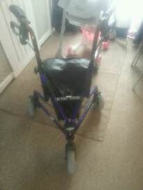 Mobility walker with storage