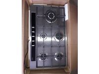 CDA hg9350ss stainless steel 5 burner gas new never been fitted not needed as project cancelled.
