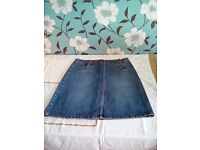 Ladies fcuk Jean Skirt, size 12