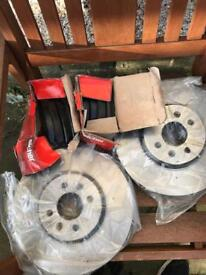 Pads and discs for grand scenic