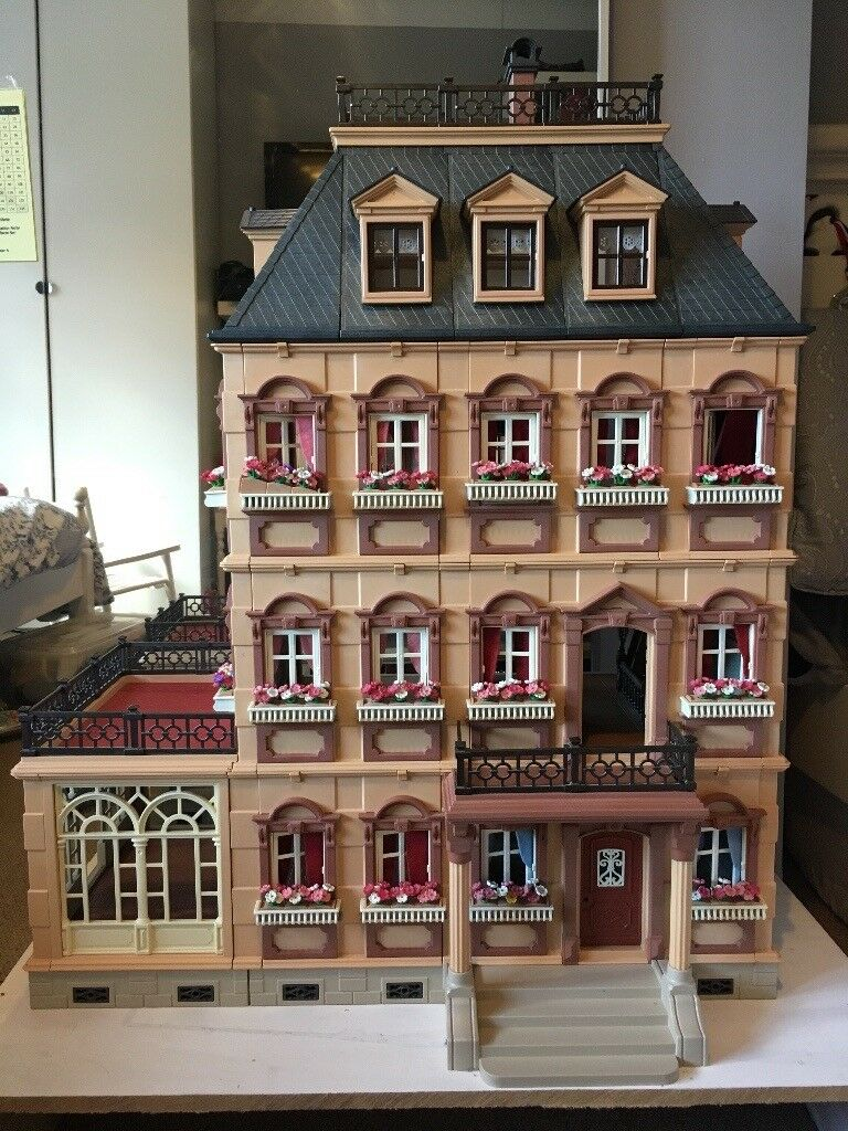 Playmobil Victorian Mansion House 5300 With Extension 7411