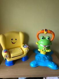 Fisher price laugh & learn smart stages chair and vtech bounce & discover Frog