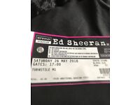 Ed Sheeran- manchester 26th May ticket for sale