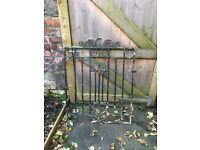 Wrought Iron Metal Garden Gate