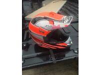 Nitro childrens orange motorbike helmet