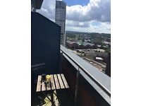 Excellent Flatshare opportunity in Leeds City Centre: Single room with personal bathroom and balcony