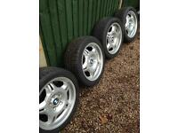"BMW E36 M3 17"" genuine style 24 alloy wheels"