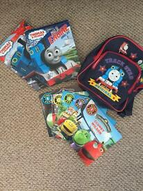 Thomas and friends books and bag