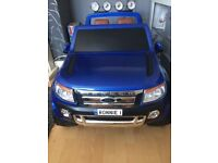 Ford Ranger kids Electric Ride on 4x4 key start 2 speed MP3 port leather seats 12v