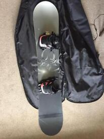 Snowboard (Flow Merc 148cm) with bindings(Flow MK3 L) + bag