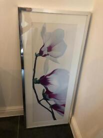 Large purple photo and frame