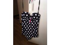 Black and White Polka Dot Bathing Suit - Size 12