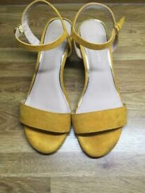 New Look, wide fit sandals size 6