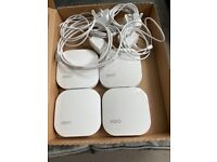 eero Pro Mesh WiFi base station + 3 extenders (up to 560 sq.m coverage)