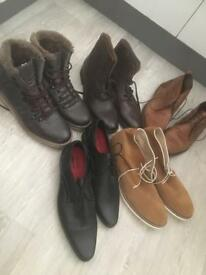 5 pairs of mens shoes/boots size 11