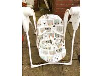 Graco baby delight Auto swing - hardly used Mint condition - £30 OR Best Offer