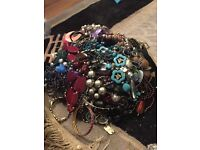 Lot of unsorted costume jewellery