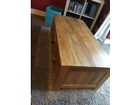 Coffee Table Solid Wood 6 Draws