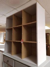 9 cube storage unit oak +white