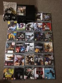 PS3 Slim with 30 games