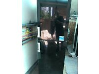 beko fridge / freezer in black can deliver