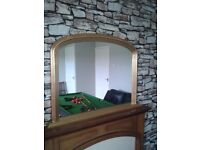 Mirror for above mantel piece