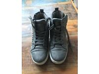Grey and gold stud high top Trainers Size 5