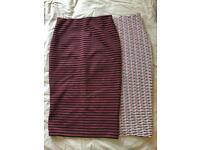 Bundle of two midi skirts - like new!